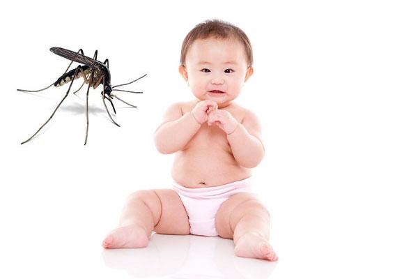 trị côn trùng đốt cho bé với muỗi