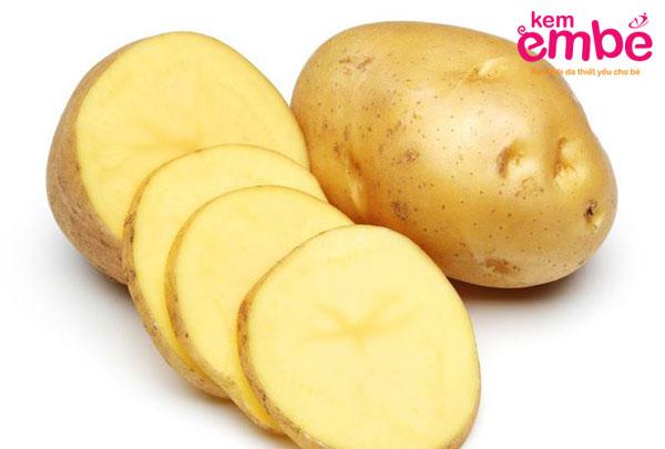 Khoai tây giúp chống viêm, giảm sưng ở vết muỗi cắn