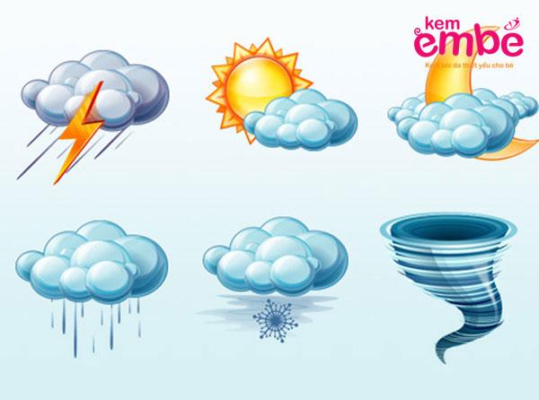 Thời tiết thay đổi có thể làm bé bị mẩn ngứa như muỗi đốt