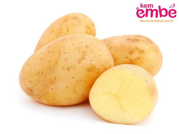 Khoai tây là thực phẩm giúp giảm vết côn trùng cắn sưng tấy
