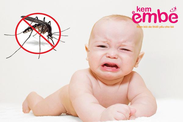 Bé 3 tháng tuổi bị muỗi đốt