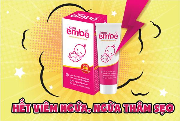 Kem EmBé trị viêm da ở trẻ sơ sinh