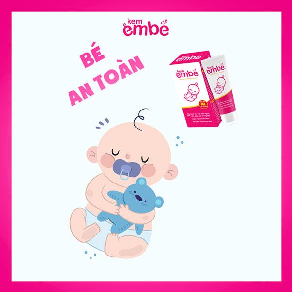 Kem EmBé làm giảm những triệu chứng viêm da ở trẻ em