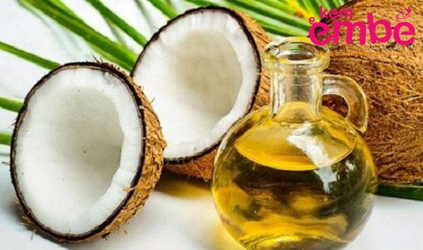 chữa chàm sữa bằng dầu dừa