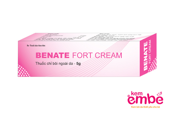 Kem bôi Benate cho trẻ sơ sinh bị viêm da