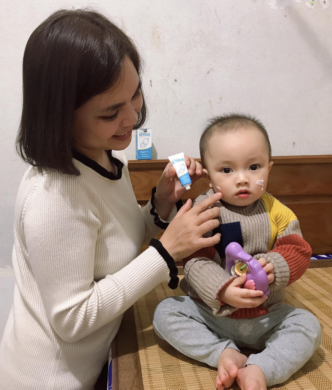 Mẹ Minh Thùy và bé Mít