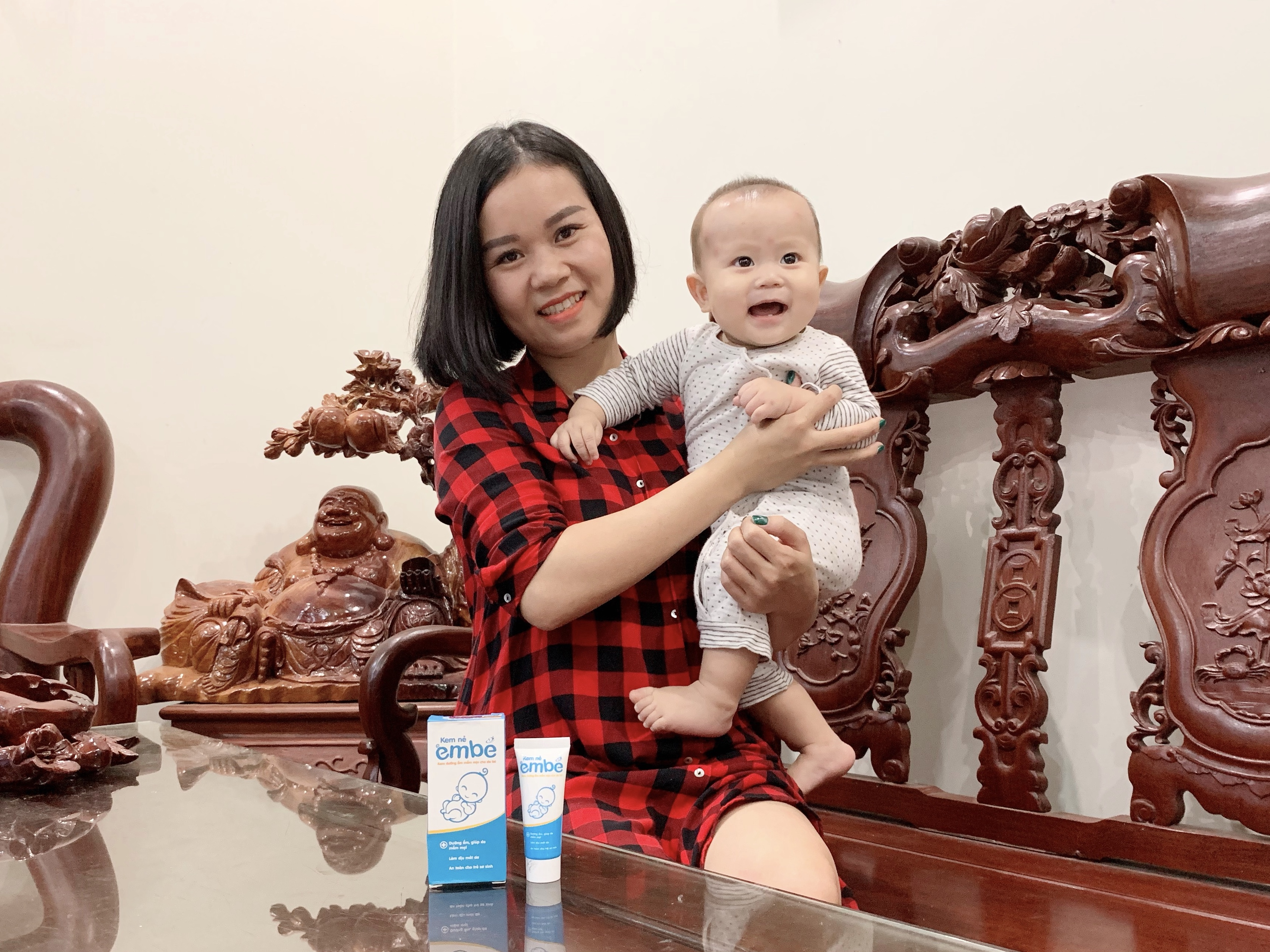 Mẹ Kim Chi và bé Sóc